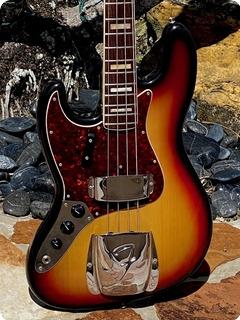 Fender Jazz Bass Left Handed 1970 Sunburst Finish