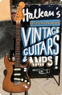 Fender Stratocaster Hardtail / Custom Color Brown 1974