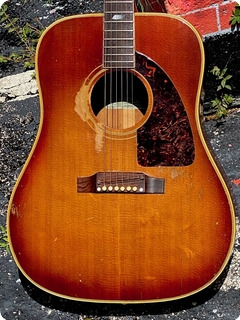 Epiphone F.t. 90 El Dorado 1967 Red/brown Sunburst Finish