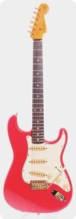 Fender Stratocaster 62 Reissue Gold Hardware Nitro 1992 Fiesta Red