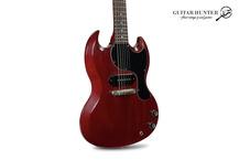 Gibson-Custom Shop 1963 SG Junior-2021-Cherry Red