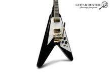 Gibson-Custom Shop  Jimi Hendrix 1969 Flying V-2020-Aged Ebony