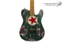 James Trussart Guitars Steelcaster Red Star 2015 Red Star OD Green