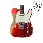 Fender Custom Shop 62 Masterbuilt Jason Smith Tele Custom Ultra Heavy Relic 2018 Red Relic