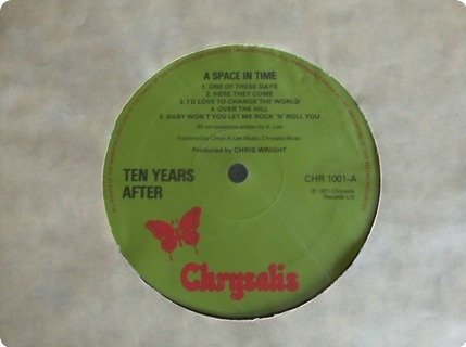 Ten Years After A Space In Time Chrysalis / Chr1001 1971