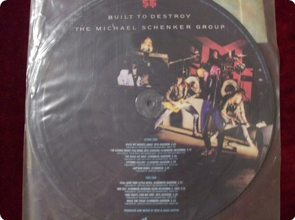 The Michael Schenker Group ( Msg ) Built To Destroy   Picture Disc Chrysalis / Chr P 1441 1983