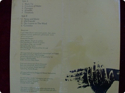 Terraced Garden Melody & Menace  Melody And Menace Records – Ct 1956  1982